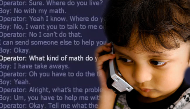 Year Old Calls 911 For Math Help - YouTube